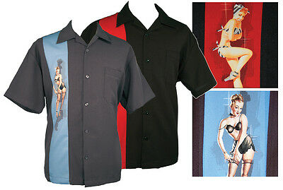 Rock Steady Clothing Pinup Girl Bowling Camp Lounge Shirt Retro 50s  one panel](50s Clothing Girls)