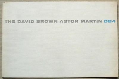 ASTON MARTIN DB4 Car Sales Brochure 1958-59