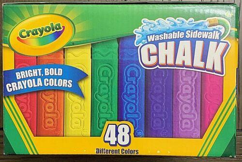 🌈 CRAYOLA Washable Sidewalk Chalk 48 Different Bright & Bold Colors