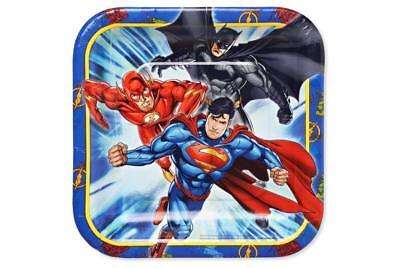 Justice League Dessert Plates by Amscan 8 Per Package Birthday Party Supplies - Justice League Birthday Party