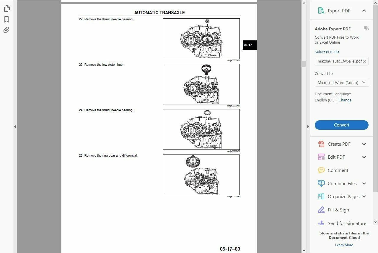 3 of 6 # Factory Workshop Service Repair Manual Mazda 6 2012-2016 +Wiring