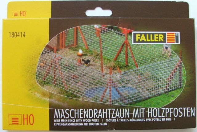 FALLER HO scale - STEEL MESH GARDEN FENCE - plastic model kit-set # 180414