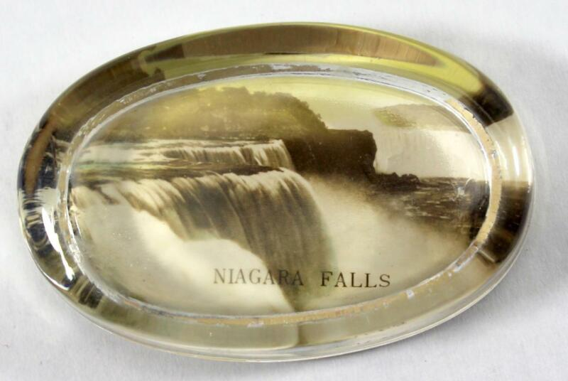 """Antique Oval """"Niagra Falls"""" Paperweight"""
