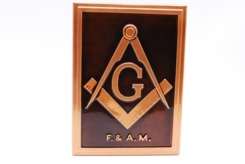 Vintage MASONIC Copper Plaque Hand Finished by Artist A. Bertoli Art Metals Co.