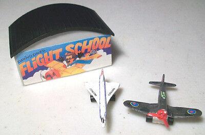 MICRO MACHINES AIRPLANE LOT DARING DAVE'S FLIGHT SCHOOL CORSAIR F4U CONCORD JET
