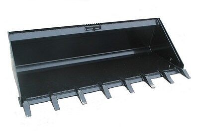 74 Inch Skid Steer Low Pro Gp Dirt Bucket With High Carbon Teeth Free Shipping