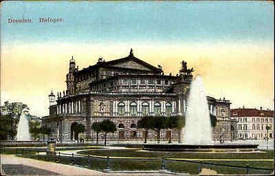 DRESDEN Sachsen ~1910 alte color Postkarte Hofoper Oper Theater AK ungelaufen