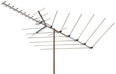 RCA ANT121 Antenna Black picks up HDTV VHF UHF FM signals 1080 JZ701