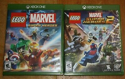 Lego Marvel Super Heroes & Marvel 2 Video Game Lot Microsoft Xbox One