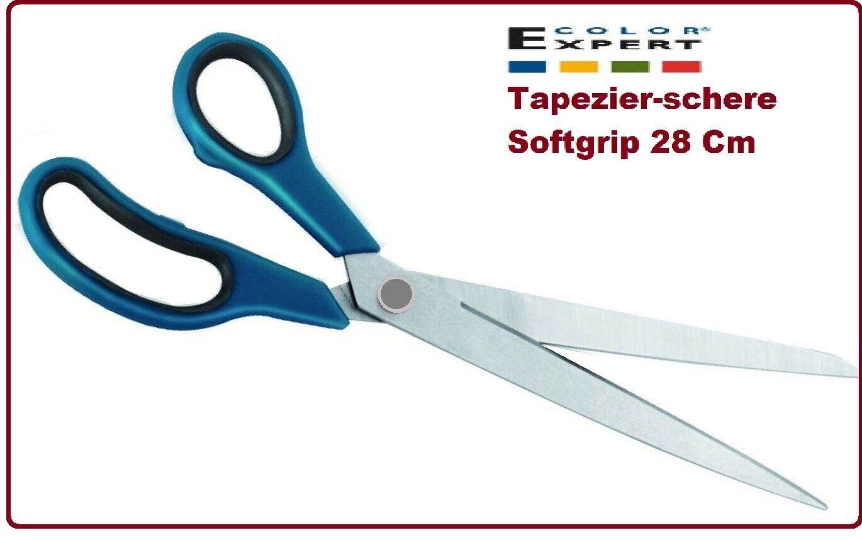 Color Expert 28 cm Tapetenschneider Color Expert Tapezier-Schere, Softgrip