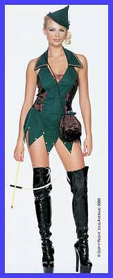 Deluxe Sexy Robin Hood Halloween Costume Outfit Hat Forest Outlaw Small Medium (Robin Hood Kostüme Hat)