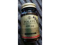 Solgar 400mcg (ug) Folate as Metafolin (Methyfolate) - 50 Tablets