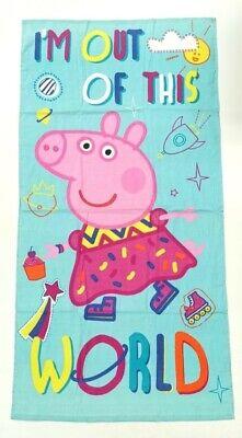 Childrens Swimming Towels (NEW OFFICIAL KIDS PEPPA PIG BEACH TOWEL BATH TOWEL SWIMMING)