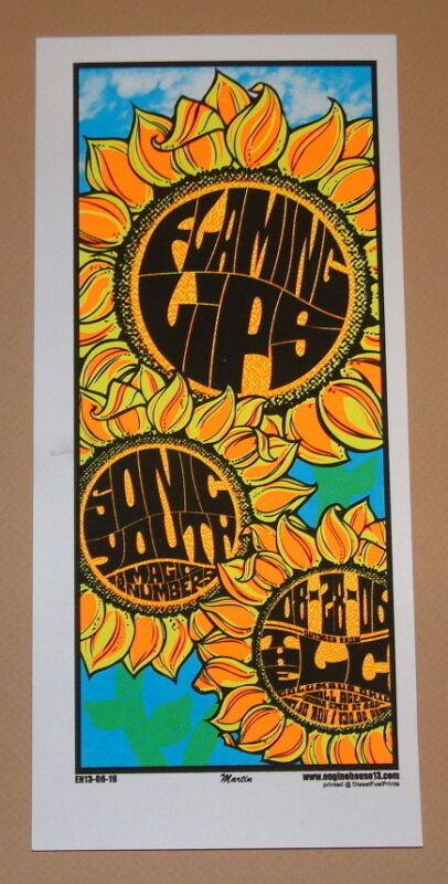 Flaming Lips Sonic Youth Columbus Mike Martin Poster Handbill Print 2006