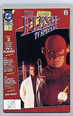 FLASH #1 TV SHOW ( 1991 ) VF / NM  DC COMIC BOOK ( JOHN BYRNE ) + EPISODE GUIDE