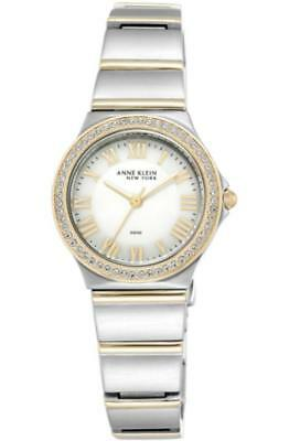 Anne Klein Women's 12/2217WMST Crystal Gold Stainless Steel Watch