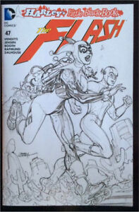 DC COMICS FLASH #47 new 52 sketch variant Harley Quinn