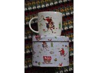 Cath Kidston Cowboy mug in tin