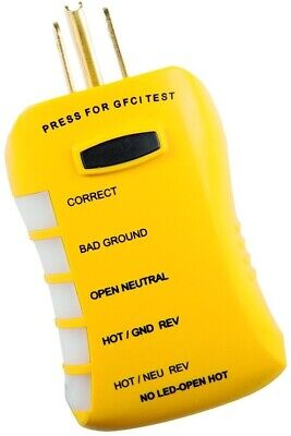 Sperry Instruments Hgt6520 Stop Shock Ii Gfci Outlet Circuit Analyzer Tester