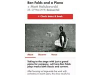Ben Folds 2x Sunday 27th May - *SOLD OUT SHOW*