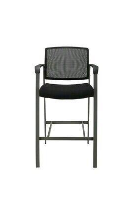 Staples Esler Mesh Guest Stool Black 1678498 High Sitting Chair Office Entertain