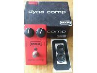 MXR Dynacomp guitar compressor effect pedal
