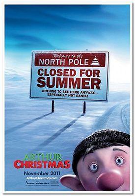 ARTHUR CHRISTMAS - 2011 - original D/S 27x40 ADVANCE movie poster-  BILL NIGHY ()