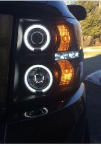 Projector Headlights- LED Halo