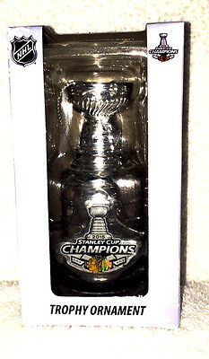 Chicago Blackhawks 2015 Stanley Cup Trophy Champions Champs Christmas Ornament