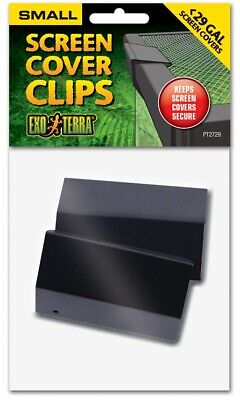 29 Gallon Terrarium Screen Cover Clip PAIR -Two Black Fish Tank Top Clips PT2729 Terrarium Screen Cover