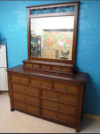 Solid wood / pine? Large chest of draws