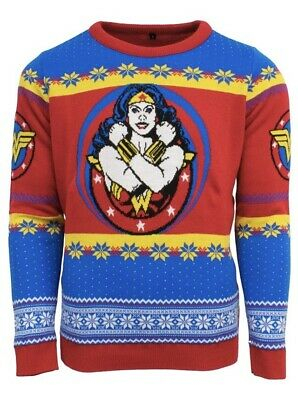 3XL Wonder Woman Ugly Christmas Xmas Jumper / Sweater by Numskull / DC - XXXL