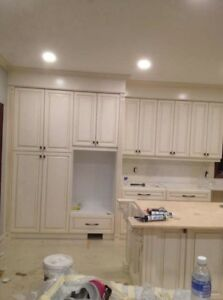 Kitchen cabinets, countertop, home renovation