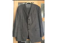 """Men's M&S Grey Tailored Suit Jacket Size 48"""" Reg /Trousers 42"""" Reg Rrp £179.99"""