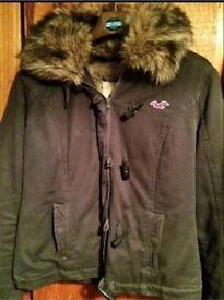 Ladies Hollister winter coat with fur