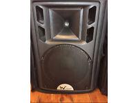 2 x W Audio PSR 12 speakers