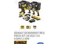 DEWALT DCK699M3T XR 6 DeWalt 6 PIECE KIT 18 VOLT 3 X 4.0AH LI-ION