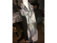 Marble detailed scarf fashion accessory