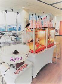 Popcorn machine Hire , Candy floss machine , Slush machine , Sweet Cart Bouncy Castle Aylin Sweets