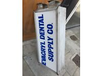 shop sign, light box, shop front sign perfect condition lightbox also(wall storage units shelving)