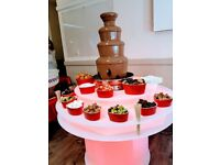 Chocolate Fountain Hire ,Sweet Cart For Hire ,Popcorn Hire , Candyfloss Hire , Slush Hire