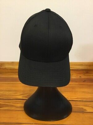 The Classics by Yupoong Black Trucker Cap Mesh Back One Size One Classic Mesh Truckers Cap