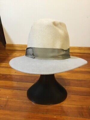 House of Lafayette Felt Fedora Gray Women's Hat with Ribbon Band