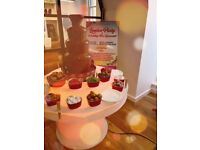 Wedding Chocolate Fountain Hire London with LED , Sweet cart Hire , Photo Booth Aylin Sweets