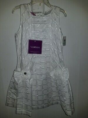 New VALMAX Made in Italy Ivory White Pageant Party Easter Dress Sz 8/75cm $560