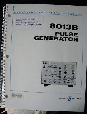 Hp 8013b Pulse Generator Operating Service Manual