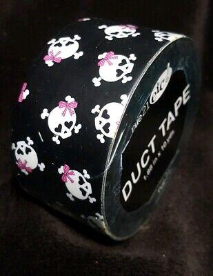 Rue 21 etc! Duct Tape ~ SKULLS Crossbones w/ Pink Bows ~ 1.88