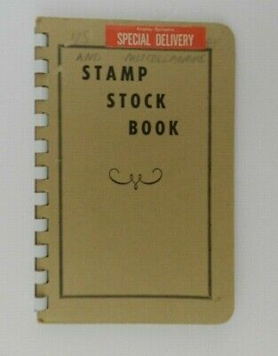 Vintage Stamp Stock Book Special Delivery Stamps