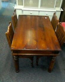 Dining table and chairs #33294 £125