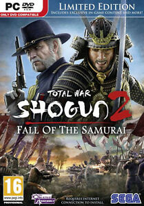 Total War Shogun 2 II Fall of the Samurai  PC Game BRAND NEW & SEALED